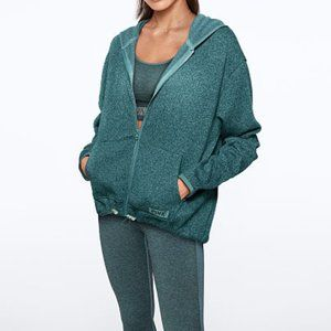 💚NWT SWEATER KNIT HIGH-LOW FULL-ZIP